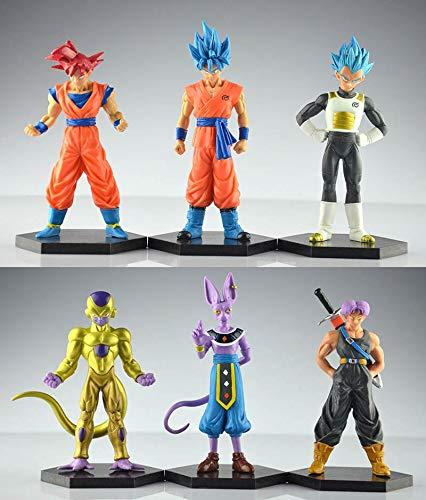 PampasSK Action & Toy Figures - 12-14cm 6pcs/Set Dragon Ball Resurrection 'F' Golden Frieza Battle of Gods Theater Saiyan Son Goku Action Figure Toys 1 PCs (Trophy Gold Figure)