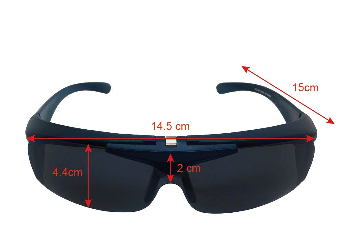 Auto Outdoor Polarized Driving Glasses, Multi-functional Sunglasses for Day and Night with Switchable Night Vision Lenses, 100% of UV400 protection, Fit-over Eyewear for Man and Women by Auto Outdoor (Image #3)