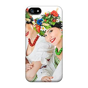 Quality JMAon Case Cover With Happy Women Nice Appearance Compatible With Iphone 5/5s