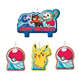 Napkins 4 Count Pokemon Birthday Candle Set, Multicolor