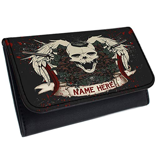 Skull Tattoo Tobacco Pouch Rolling Baccy Wallet Smoking Personalised Gift SH231