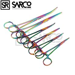 Ultimate Hemostat Set Multi Color, 6 Pie...