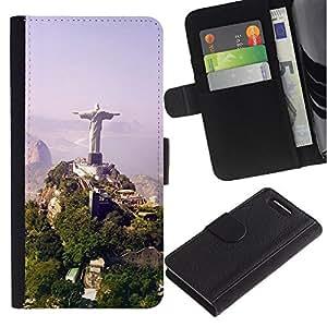 OMEGA Case / Sony Xperia Z1 Compact D5503 / DEAR JESUS / Cuero PU Delgado caso Billetera cubierta Shell Armor Funda Case Cover Wallet Credit Card