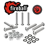 Fireball Dragon Stainless Steel Skateboard Hardware Set (Button Allen, 1.5'')
