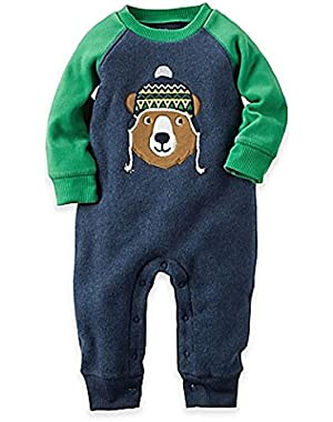 Cartrer's Bear Fleece Jumpsuit / Romper