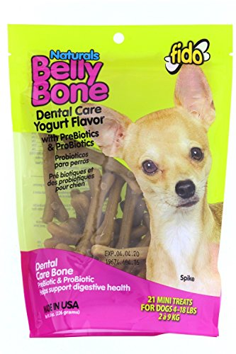 - Fido Belly Bone Yogurt Dog Bone - Mini 21 Pack