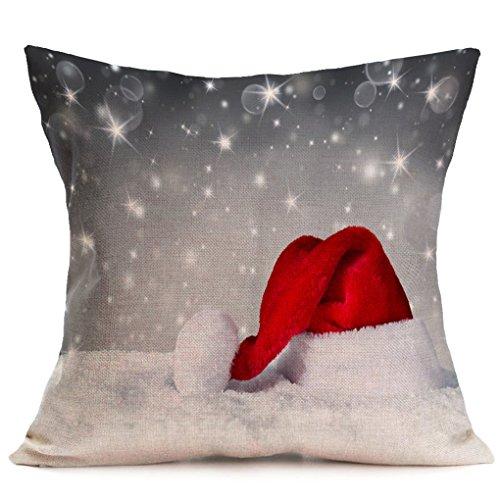 Pillow Cover,Haoricu Vintage Christmas Cartoon Smowman Penguin Sofa Bed Home Decoration Festival Pillow Case Cushion Cover