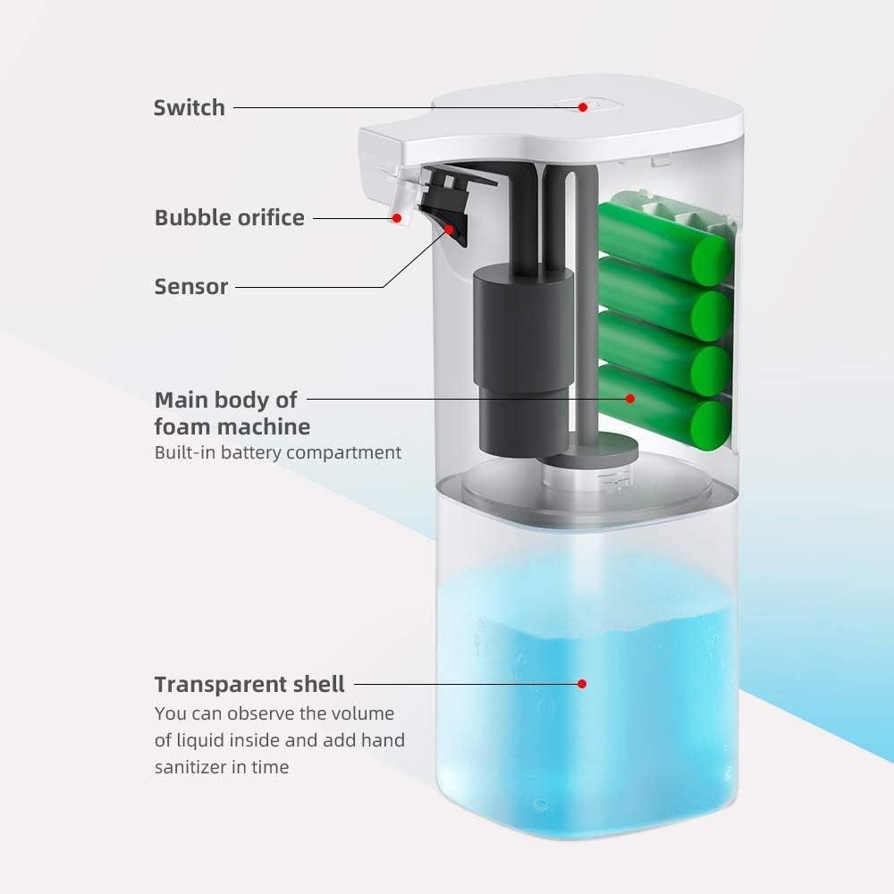 Wimaha Distributore di Sapone Automatico Mano Automatico Touchless sensore a infrarossi Dispenser di Sapone per Bagno Cucina Compatibile per Mano Sanitiser 200ML