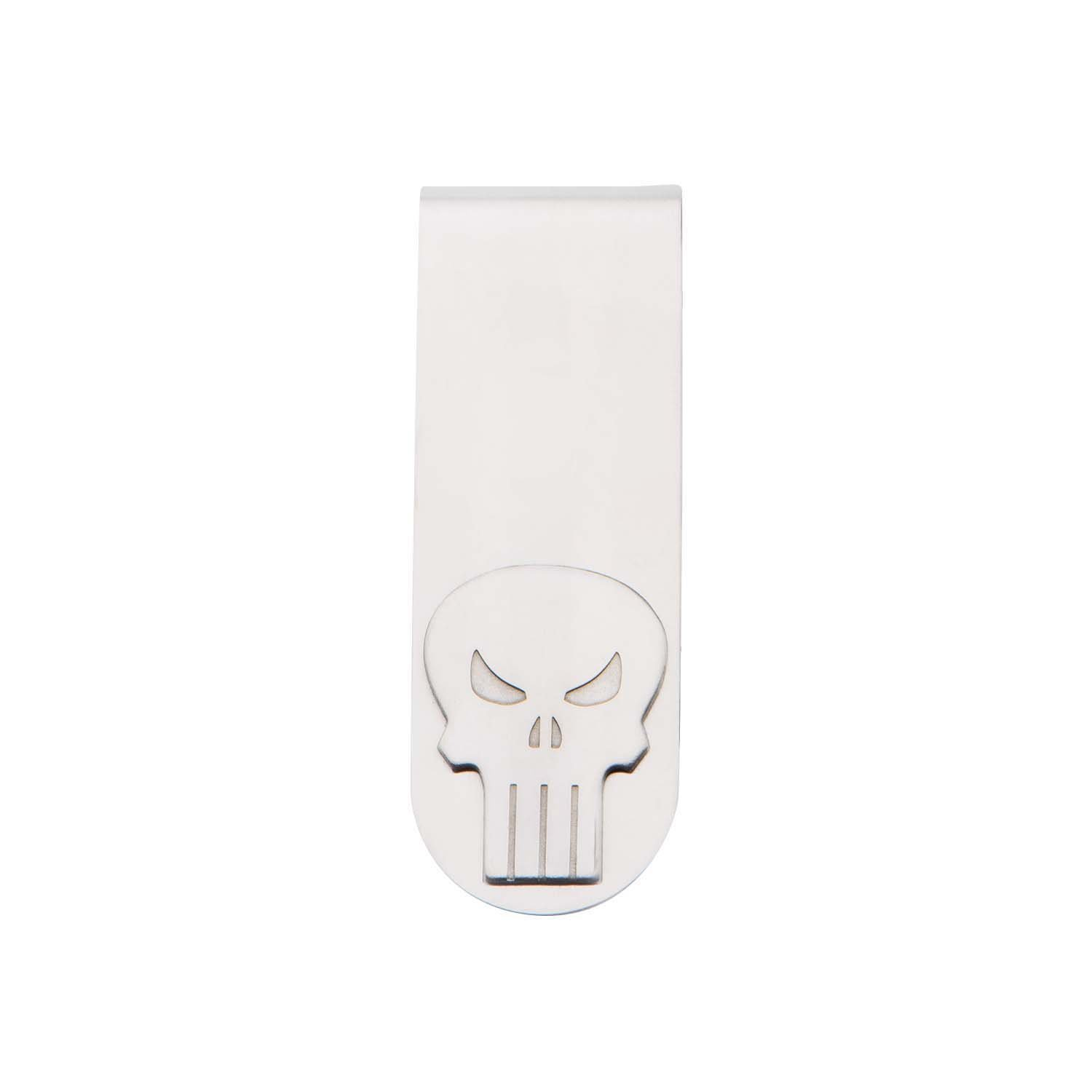 Body Vibe Punisher Skull Stainless Steel Money Clip