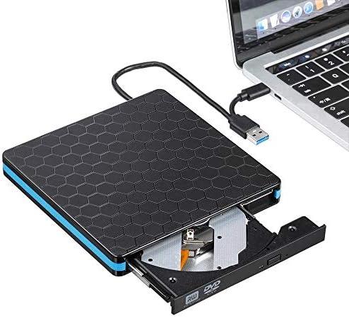 光学ドライブ PCのラップトップのOSウィンドウのデュアルポートDVD-RWプレーヤーバーナーUSB 3.0タイプC外付けCD DVDドライブの高速データ転送 再生 編集 書込 パソコン 外付 周辺機器 (Color : Black, Size : One size)