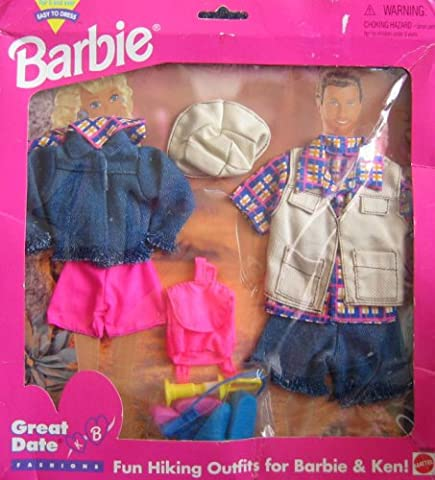 Barbie Great Date Hiking Outfits Fashions for Barbie & Ken! - Easy to Dress (1995 Arcotoys, Mattel) (12 In Male Doll)