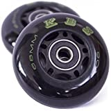 Ripstik Wheels by KBS - Razor Ripsurf Performance Caster Board Replacement 68mm 76mm 80mm 90a with ABEC 7 Speed Bearings 2 Pack Set of Two Ripstick Luggage Scooter Inline