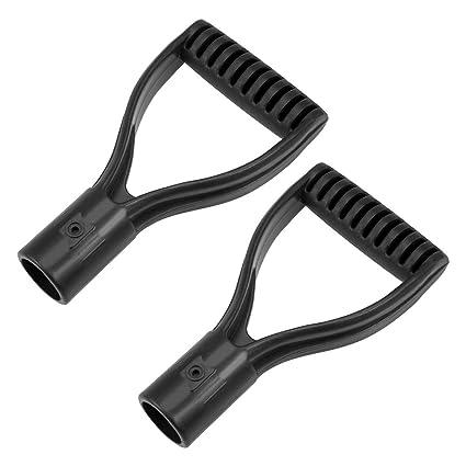 30mm Inner Diameter PVC for Digging Raking Tool Black 2pcs uxcell Shovel D Grip Handle