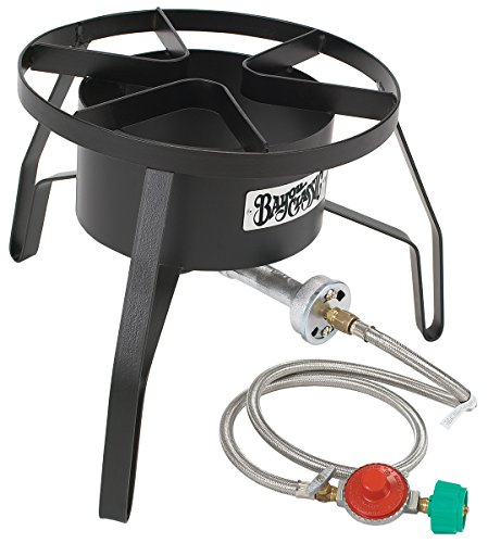 Bayou Classic SP10 Single Burner Cooker, 18″ x 18″ x 13″. Weight: 13.8lbs, - Fryer Aluminum Deep 32 Qt