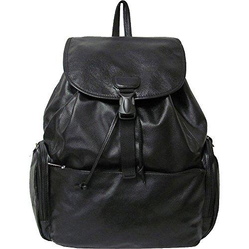 AmeriLeather Jumbo Leather Backpack (Black) -