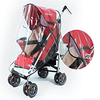 Baby Rain Wind Snow Sleet Cover for Single Jogger Stroller // Lluvia viento cubierta de nieve aguanieve bebé por solo cochecito del basculado