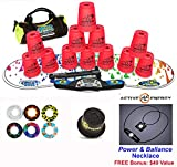 Speed Stacks Combo Set ''The Works'': 12 NEON PINK 4'' Cups, RAINBOW DROP Gen 3 Mat, G4 Pro Timer, Cup Keeper, Stem, Gear Bag + Active Energy Necklace