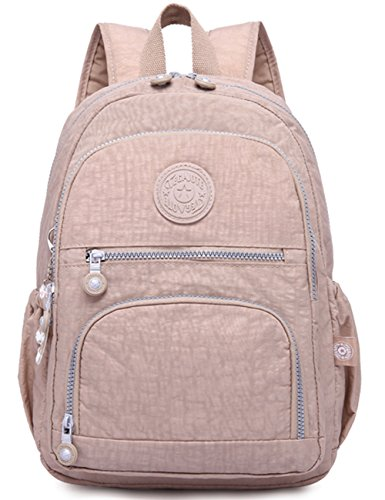 Oakarbo Mini Travel Daypack Nylon Cute Junior School Backpack (Desert sand)