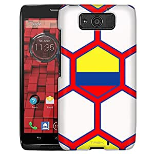 Motorola Droid Ultra Case, Slim Fit Snap On Cover by Trek Soccer Ball colombia Flag Case