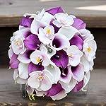 Veryhome-20pcs-Lifelike-Artificial-Calla-Lily-Flowers-for-DIY-Bridal-Wedding-Bouquet-Centerpieces-Home-Decor-Purple-White