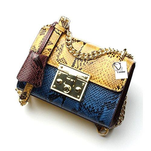 - Yoome Crossbody Bag for Women Snake Pattern Handbag Designer Fashion Single Shoulder Messager Bags