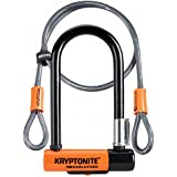 Kryptonite Evolution Mini-7 Heavy Duty Bicycle U Lock w/4' KryptoFlex Double Loop Bike Cable