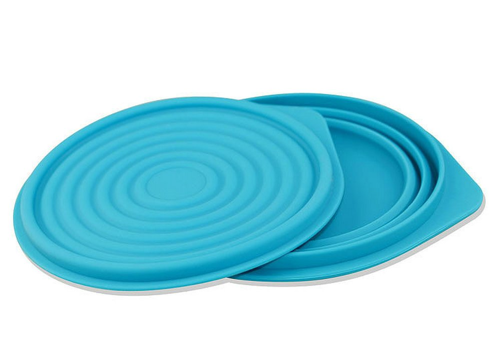 Collapsible Food Grade Silicone Bowls with Lids, BPA-free, Camping, Traveling, Pets, Hiking, Expandable Portable Backpacking Bowl (2 PC) by LTFT (Image #3)