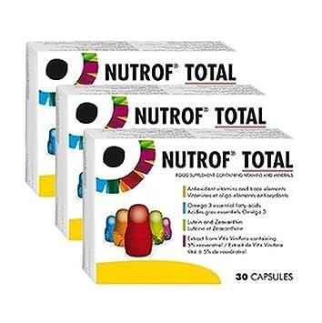 Nutrof Total 90 Cápsulas Suplemento Dietético para una saludable Ojos (3 Meses Tratamiento): Amazon.es: Salud y cuidado personal