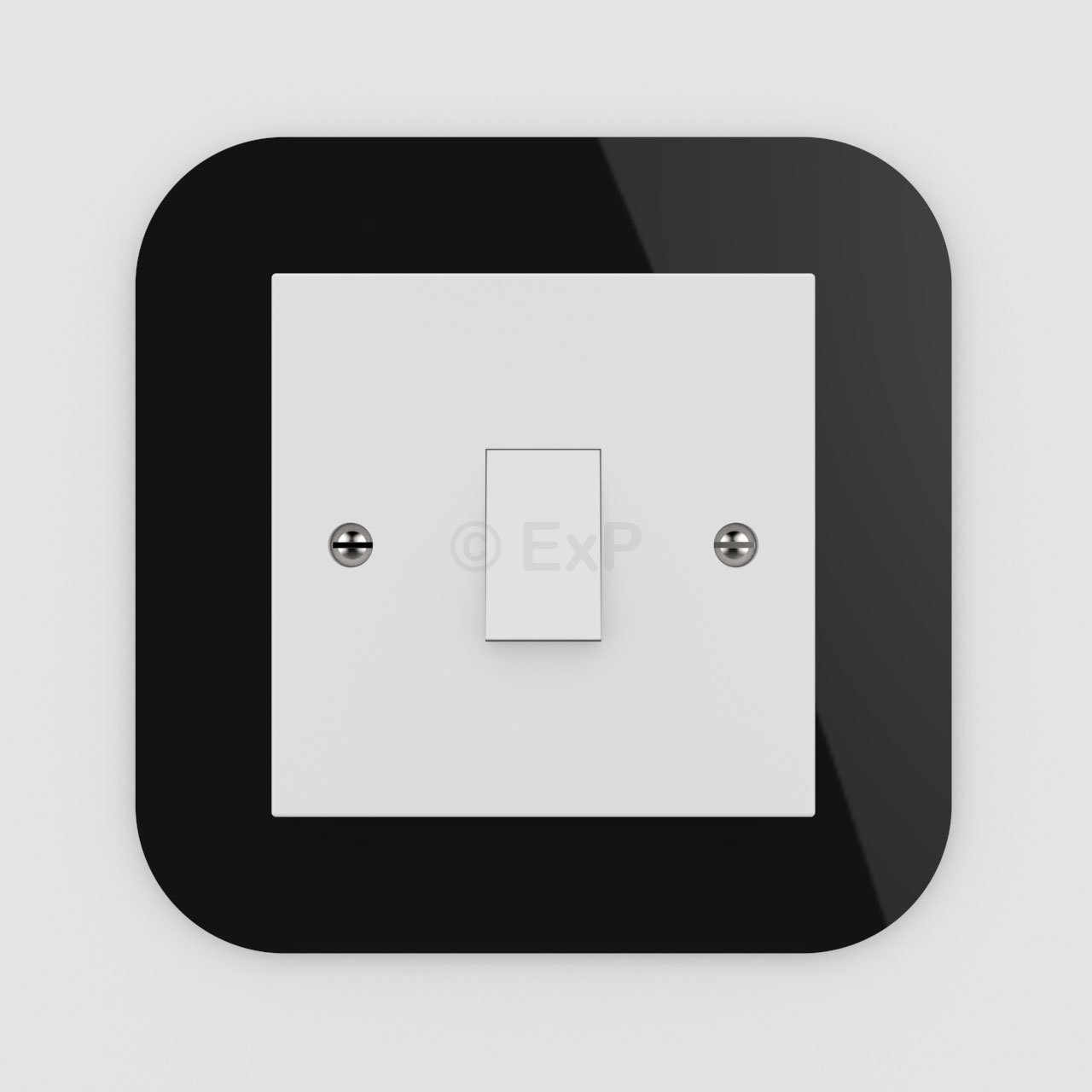 Expression Products Single Light Switch or Plug Socket Back Plate Finger Surround Panel Clear Free Trolley Token Material Sample Included per Shipment