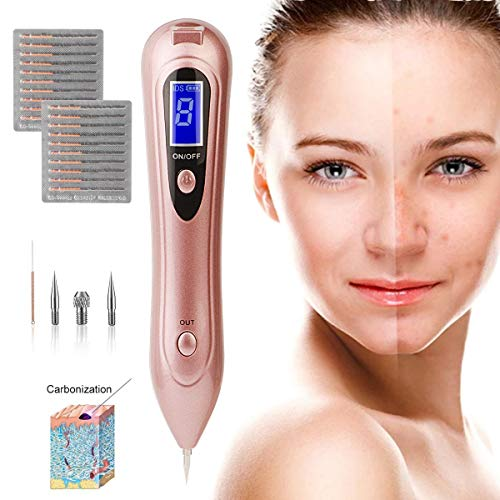 Skin Tag Repair Kit 9-Speed Adjustable Freckle & Tattoo Beauty Equipment Home USB Charging/LCD/Replaceable Needle ()