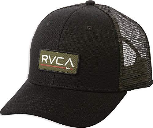RVCA Ticket Mid Fit Trucker Snapback Hat (Black Olive)