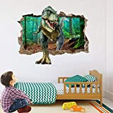 AIUSD Cool 3D Dinosaur Floor Wall Sticker Removable Vinyl Art Home Decal DIY for Gift