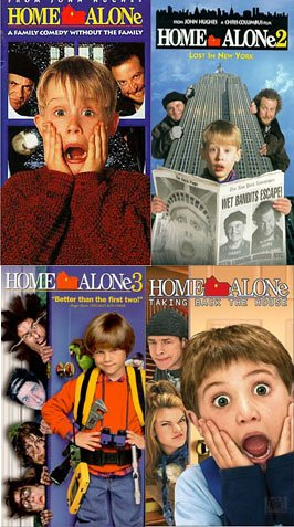 Home Alone 1, 2, 3, 4 (4 Pack) (Home Alone 4 Taking Back The House)