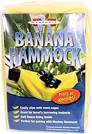 marshall pet banana hammock amazon     marshall pet banana hammock   pet habitat bedding      rh   amazon