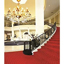 A.Monamour Interior Stairs Red Carpet Luxury Hall Chandelier Light Indoor Scene Wedding Studio Photography Backdrops