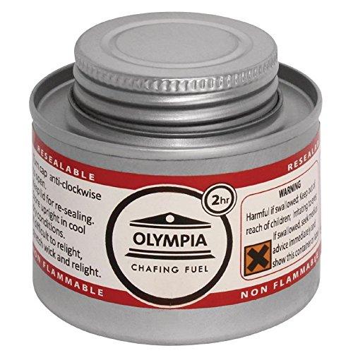 Olympia CB733 Lot de 12liquides à combustion 2heures Argenté Nisbets