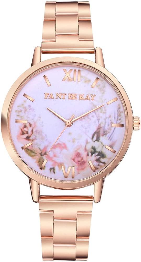Reloj de Cuarzo de Mujer pequeño Cinta de Acero Squisitamente ...