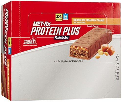 MET RX Protein Plus Bars, Chocolate Roasted Peanut, 9ct