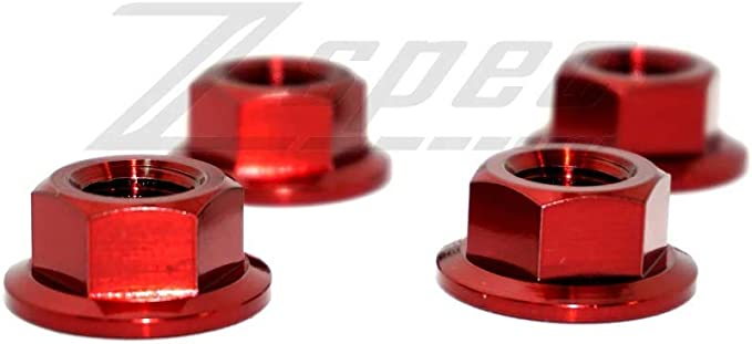 ZSPEC Design Titanium M8-1.25 Metric Flare Nuts for 350z//G35//370z//G37 Shock Towers