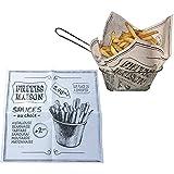Générique 100 Feuilles de Papier Absorbant pour frites, burgers, cornets à frites, paniers à frites.
