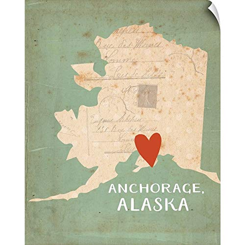CANVAS ON DEMAND Alaska Wall Peel Art Print, - Fine Art Alaska