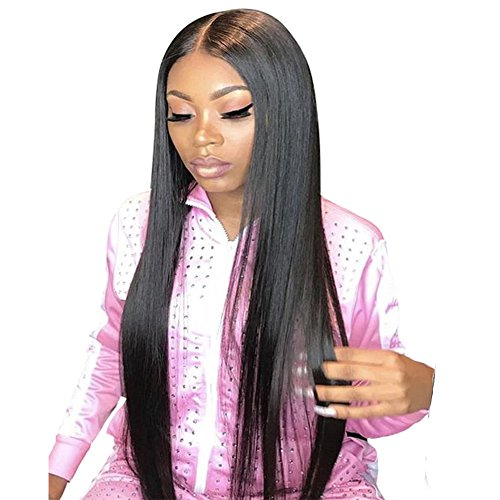 Perfe Human Hair Wigs Straight 150% Density Middle Part Full