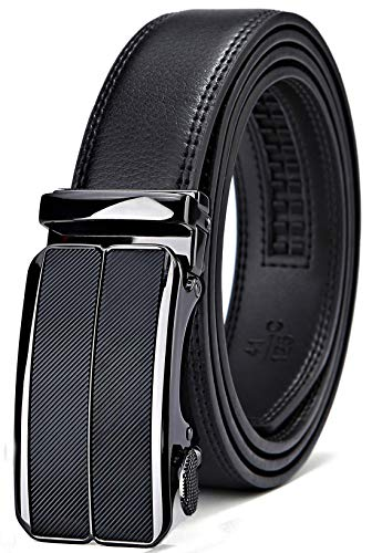 (Belt for Men,Bulliant Men's Click Ratchet Belt Of Genuine Leather,Trim to Fit )