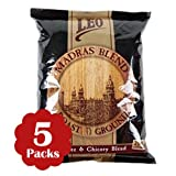 Madras Blend South Indian Filter Coffee (Pack Of 5) 500 Grams (17.6 Oz) Each