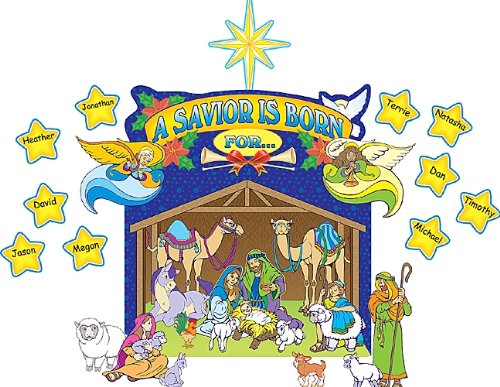 Teacher Created Resources Nativity Scene Bulletin Board Display Set (7026) Teacher Created Resources OS