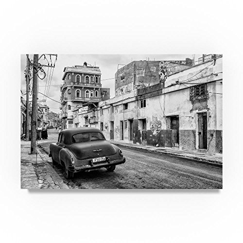 Old Car in the streets of Havana II by Philippe Hugonnard, 12x19-Inch Canvas Wall Art
