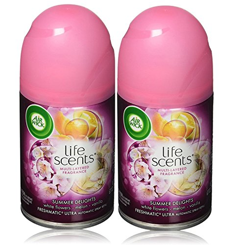 Air Wick Freshmatic 2 Refills Automatic Spray Refill Air Freshener, Summer Delights, 12.34 Ounce