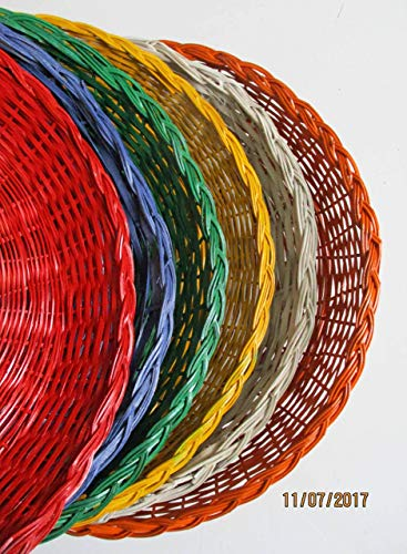 (SIX Wicker Paper Plate Holders, Picnic and Party Supplies, Outdoor Dining, Summer Fun and Games, BBQs, Beach Pool Parties, Table Decor, Paper Plate Holders, Supports, Outdoor Dining, Al Fresco)