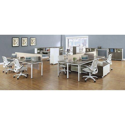 Element Fabric Desktop Divider 46''W Beige Fabric