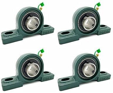 Amazon.com: Cuatro (4) UCP205-16 cojines de hierro fundido ...